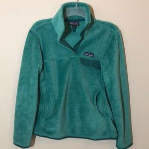 Patagonia pullover fleece teal size S